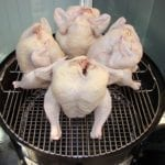 """4 chickens in 22.5"""" WSM"""