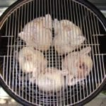 """5 chickens on bottom grate of 22.5"""" WSM"""