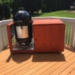 Anthony N WSM stained cedar cart