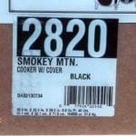 Label including model number & box specs