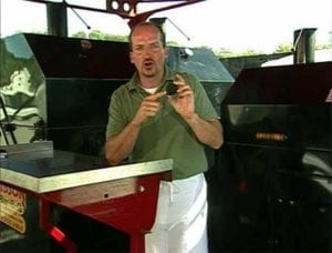 Chris Lilly in a promotional video for Kingsford Competition Briquets
