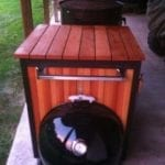 Wooden WSM cart