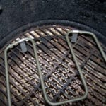 Close-up of electric element in charcoal grate