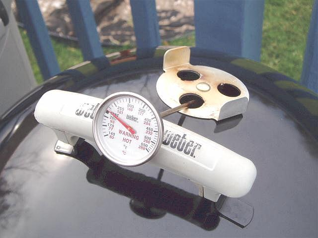 Handle as thermometer holder - front view