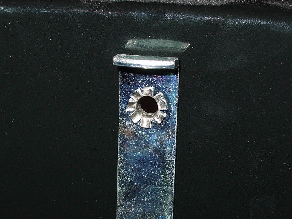 Probe thermometer eyelet - interior view