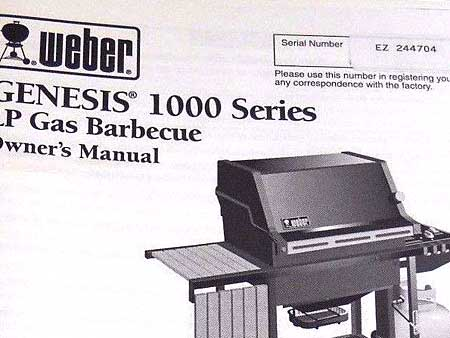 Example of 1998 EZ code on a Genesis 1000 Owner's Manual