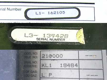 Sorry, there's no date information in these Weber Genesis 1, 2, and 1000 serial numbers