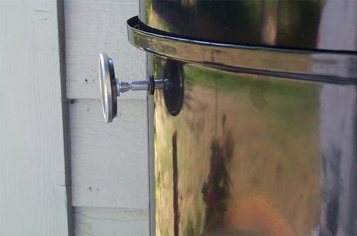 Weber gas grill thermometer installation