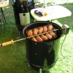 "Rotisserie adapted to 18-1/2"" WSM"