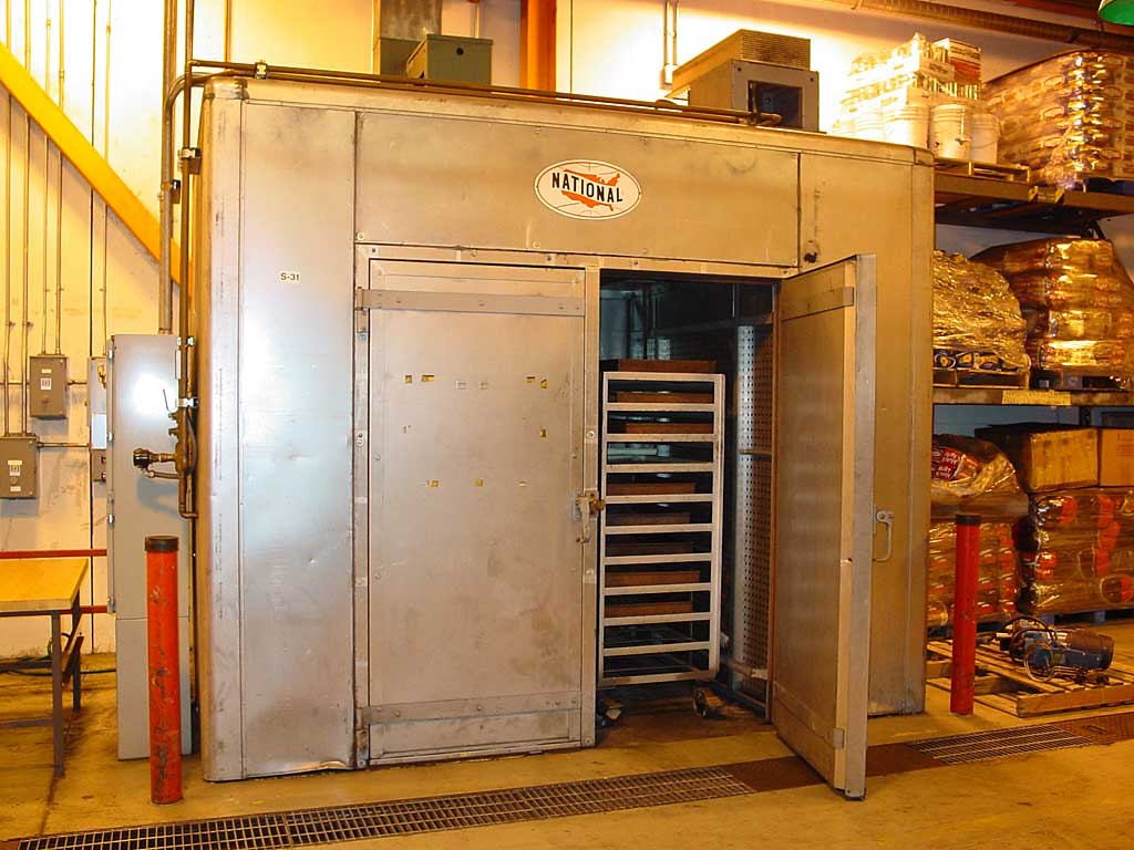 This drying chamber is used to remove moisture from the briquettes.