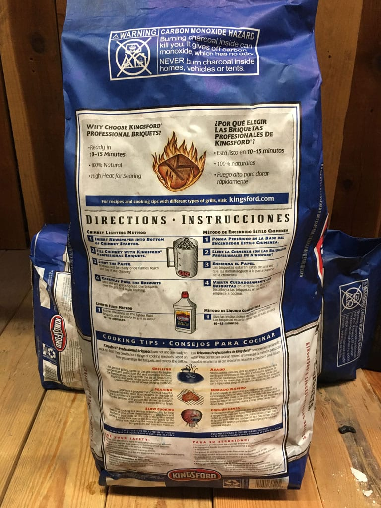 Kingsford Professional - Back of bag