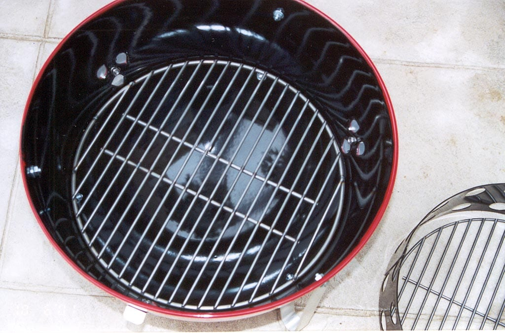 Custom welded charcoal grate