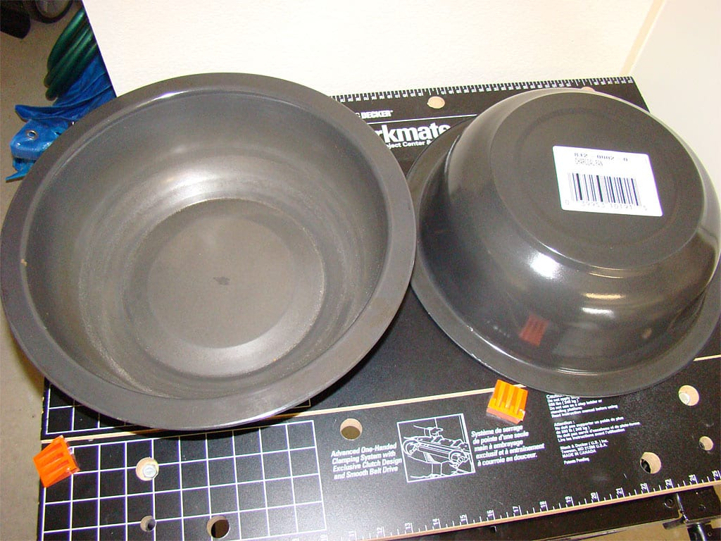 Two Brinkmann charcoal pans