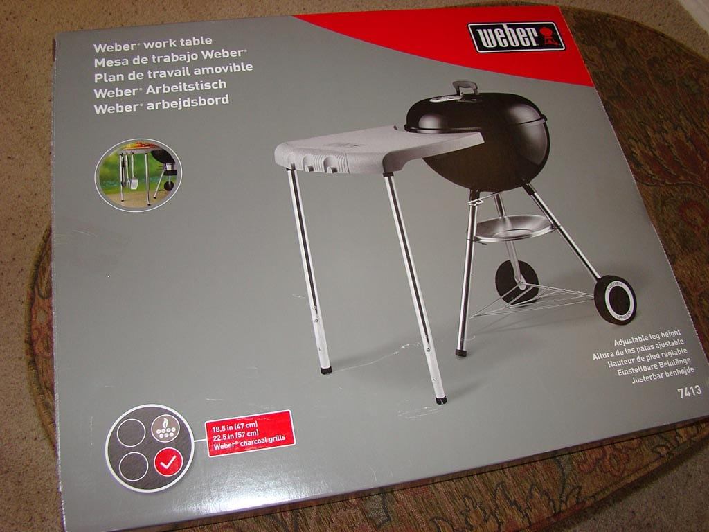 Weber Kettle Side Table.Weber Grill Work Tables Table Design Ideas