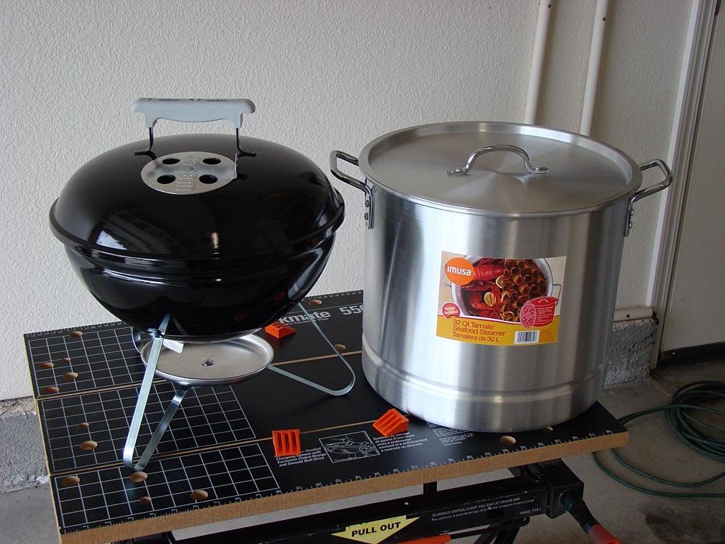 Smokey Joe and a steamer pot