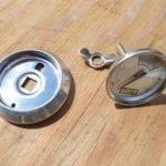 Thermometer, bezel and wing nut fastener