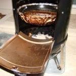 Open access door during cooking process