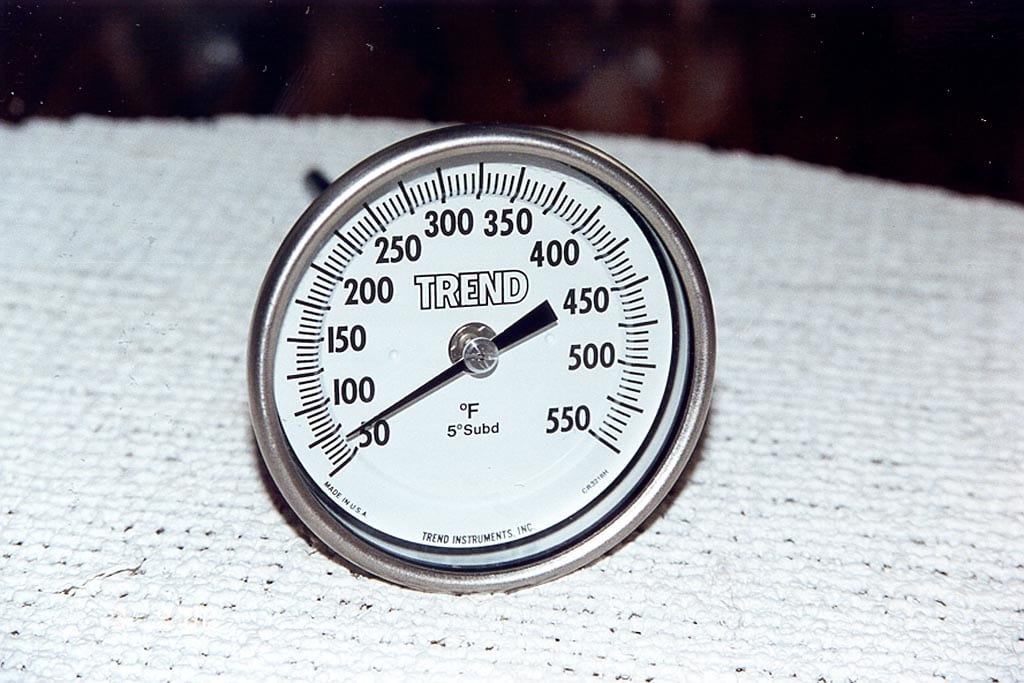Trend thermometer - front view