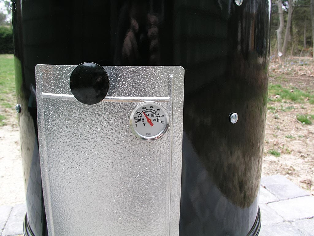 Thermometer mounted in access door