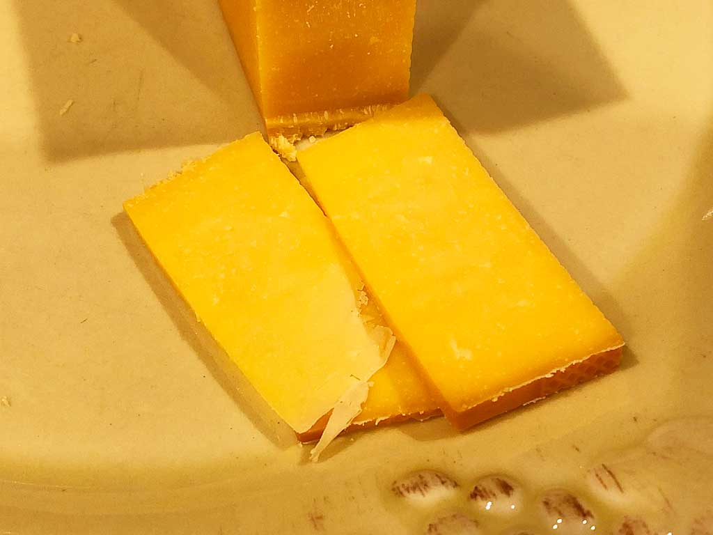 Smoked cheddar cheese slices