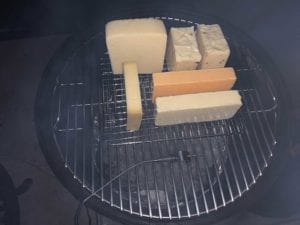 Cheese placed in the WSM