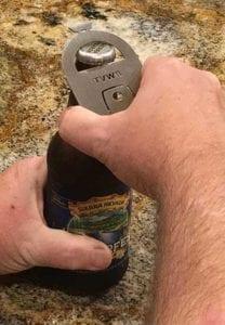 TVWB Bottle Opener in action