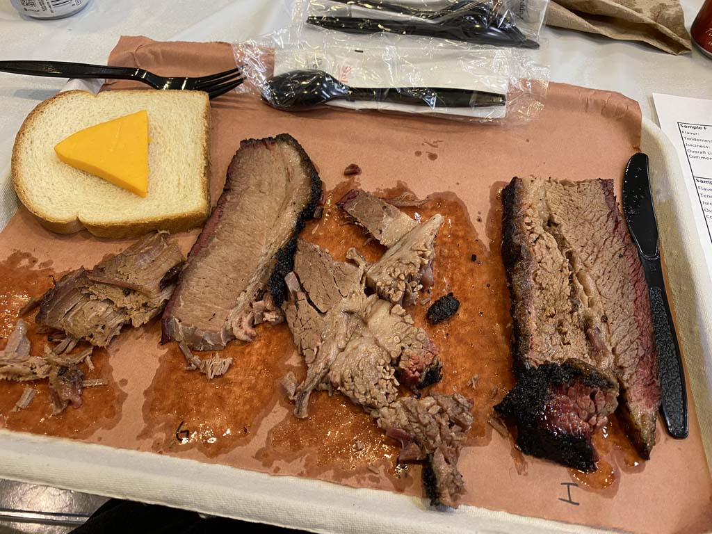 Day 2 brisket lunch taste test for smoke woods