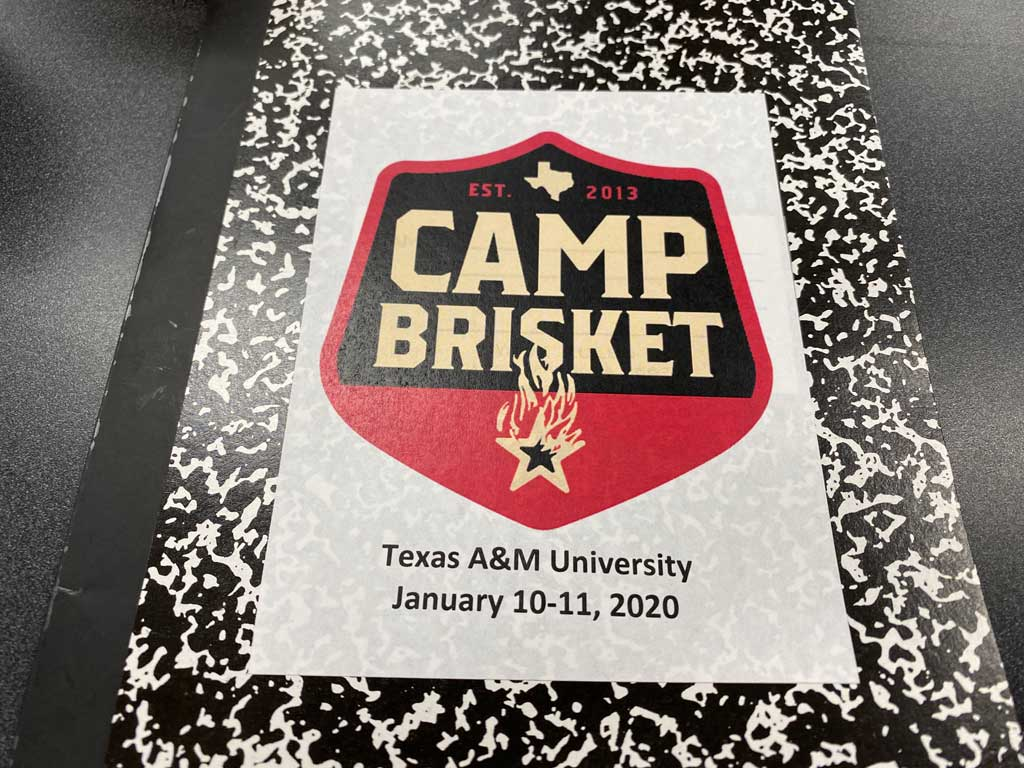 Camp Brisket notebook