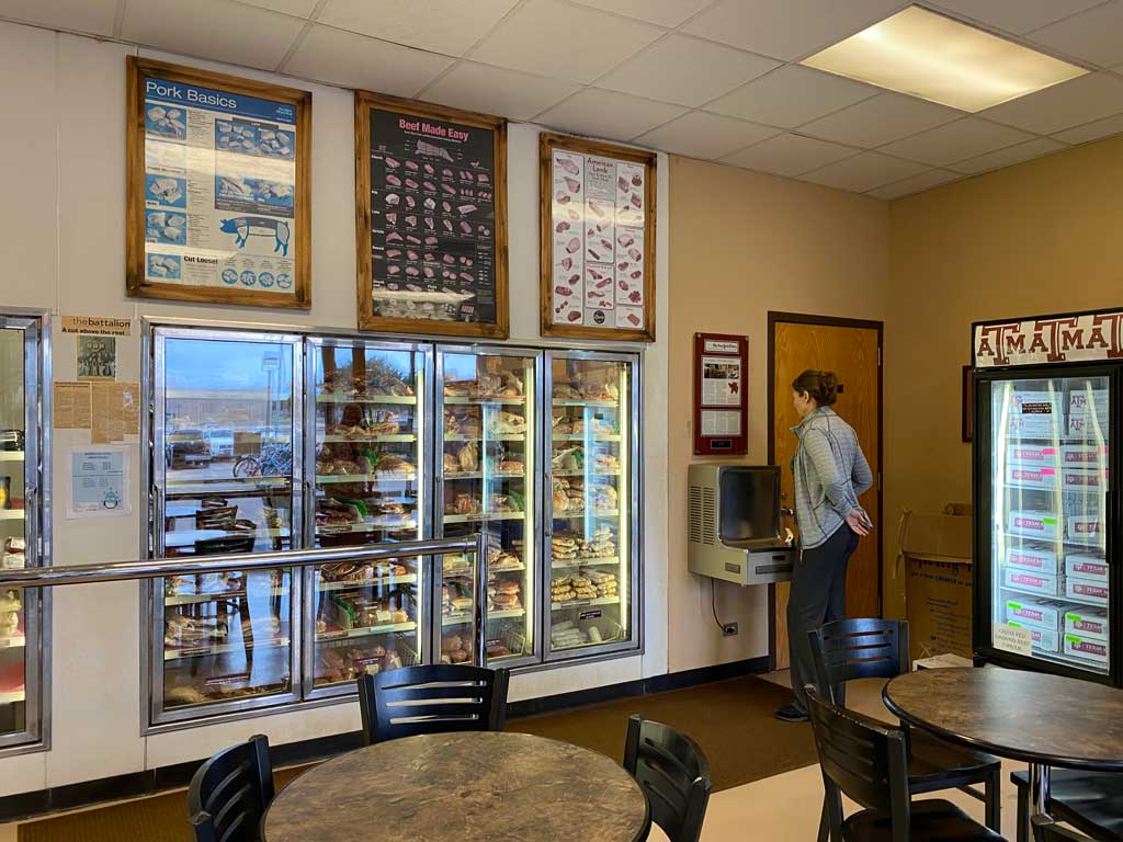 Texas A&M Rosenthal Meat Center retail shop