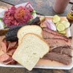 Barbecue sampler at Micklethwaite Craft Meats