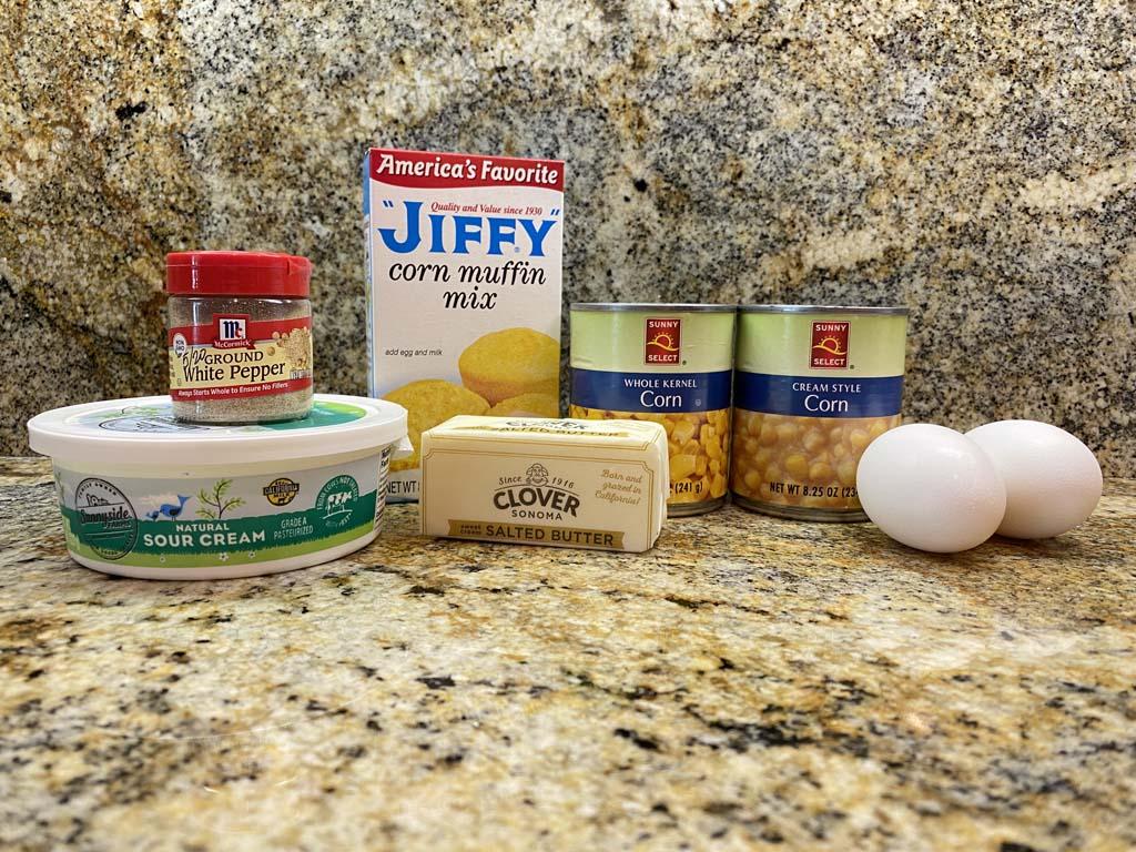 Spoon bread casserole ingredients