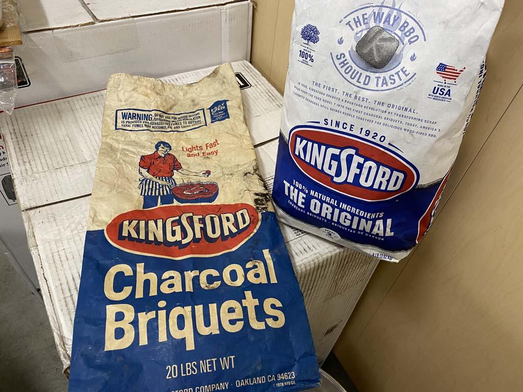 1984 and 2020 Kingsford Original bags