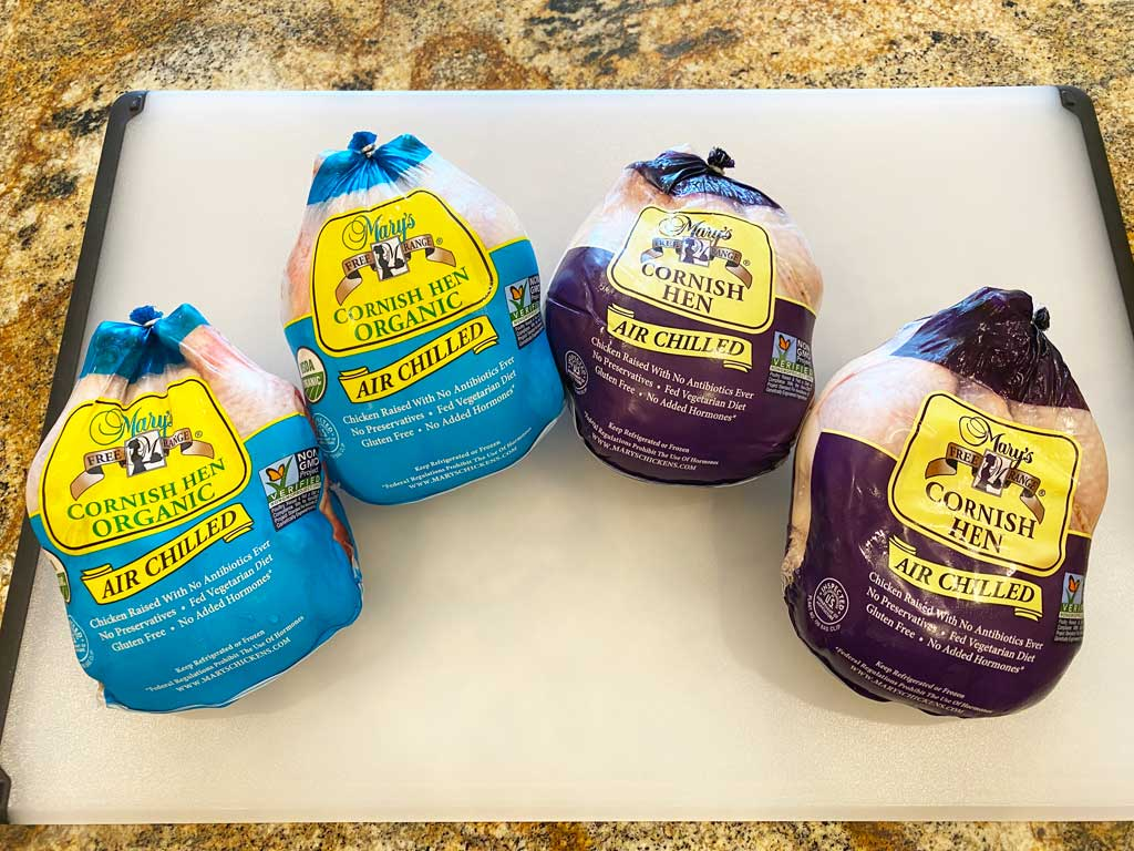 Mary's organic and free-range Cornish game hens