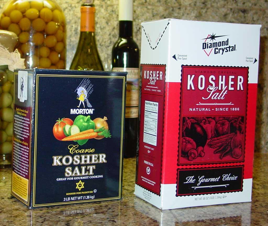Morton Kosher Salt and Diamond Crystal Kosher Salt
