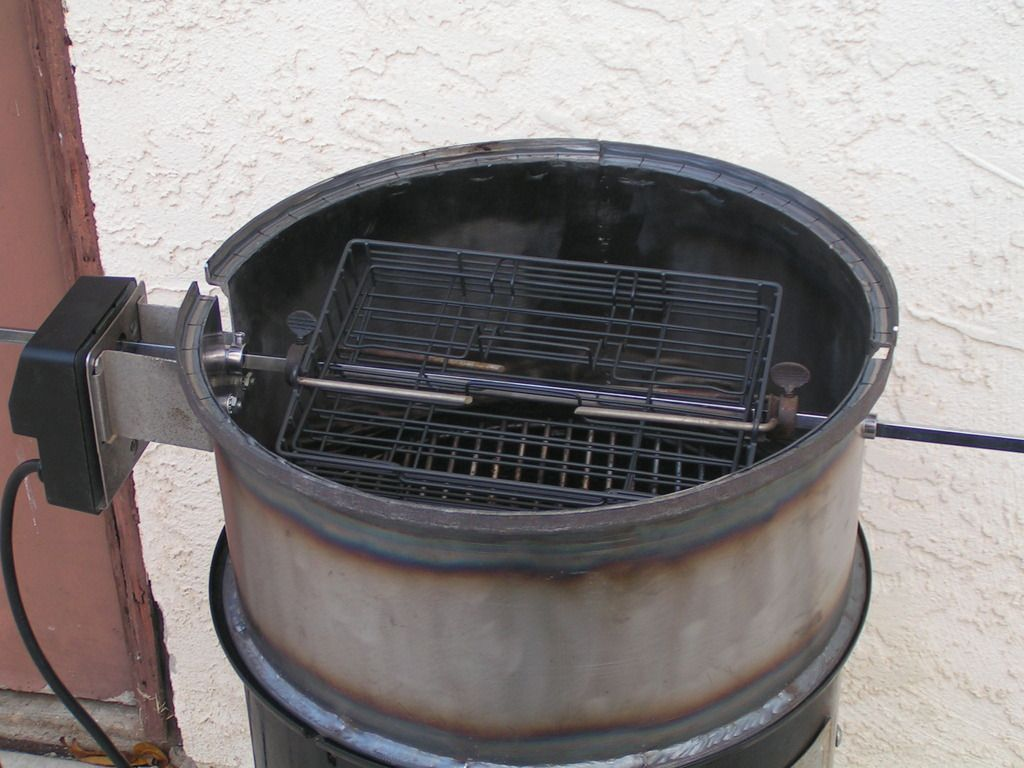 Inside view of 14.5 WSM rotisserie ring