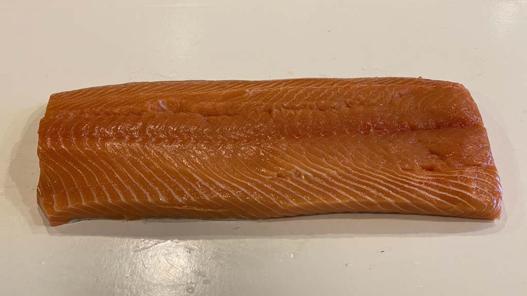 Trimmed side of salmon